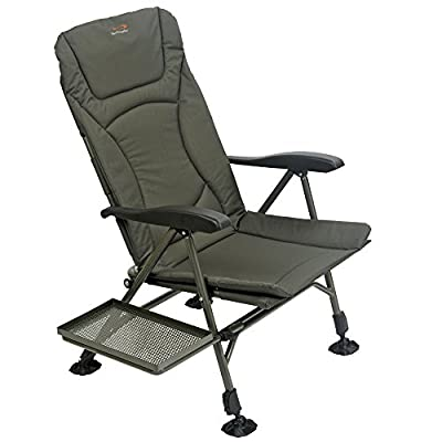 TF Gear Flat Out Carp Fishing Recliner Armchair with Side Tray - Ex Demo from TF Gear