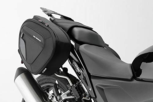 SW-MOTECH BLAZE Satteltaschen-Set, Schwarz/Grau - Honda CBR500R,600RR,650F/CB500F,650F. -