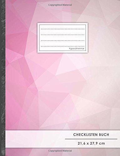 """Checklisten-Buch: DIN A4 • 70+ Seiten, Softcover, Register, \""""Decent Pink\"""" • #GoodMemos • 18 Checkboxen + Platz für Notizen/Seite (inkl. Register mit Datum uvm.)"""