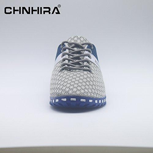 Hellblau Flats Sportschuhe Helle CHNHIRA Laufschuhe Unisex Schnuren Turnschuhe Sneaker Runners Herren Sport Profilsohle YppqO70B