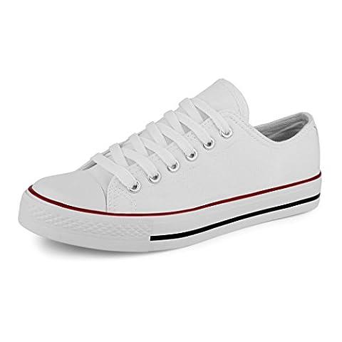 best-boots Damen Turnschuh Sneaker Slipper Weiß 1359 Größe 41