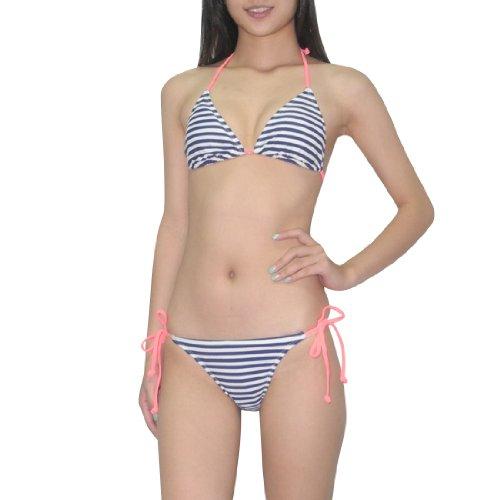 2pcs-set-old-navy-damen-sexy-top-bottom-dri-fit-swimsuit-medium-blau-weiss