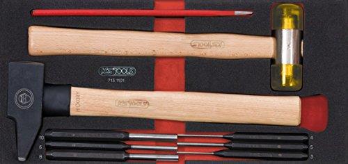 KS Tools 713.1101 Module de 9 Outils de frappe manche bois