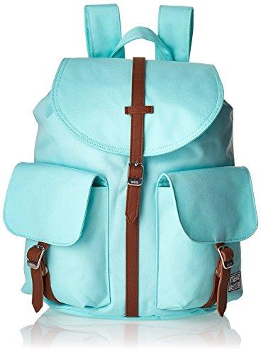 Imagen de herschel dawson tela azul, marrón    para portátiles y netbooks tela, azul, marrón, monótono, mujeres, bolsillo frontal, bolsillo con cremallera
