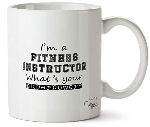 Hippowarehouse I'm A Fitness Instructor What's Your Superpower? taza impresa taza de cerámica 10 oz