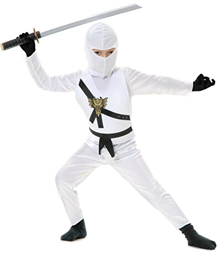 Charades Ninja Master weiß Kinder Kostüm - Ninjago (Kinder Small - Ninja Master Kostüm