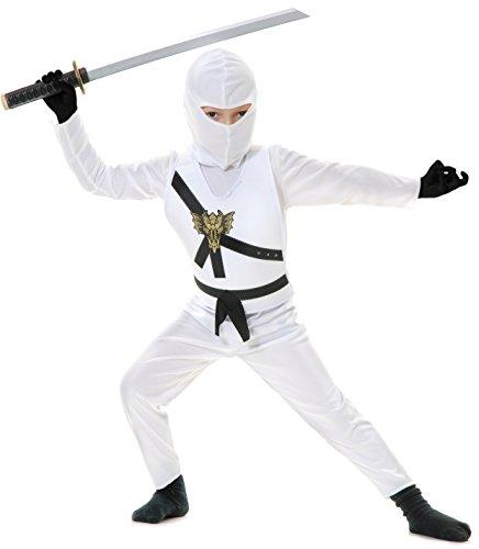 Lego Zane Kostüm - Charades Ninja Master weiß Kinder Kostüm
