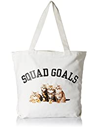 Forever 21 Women's Tote Bag (Cream/Multi) (00229250011_0022925001_ CREAM/MULTI_1_)