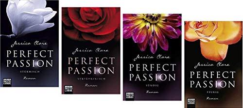 Geschenkidee Band 1-4 der Perfect Passion Reihe von Jessica Clare 1. Stürmisch & 2. Verführerisch & 3. Sündig & 4. Feurig Jessica-band