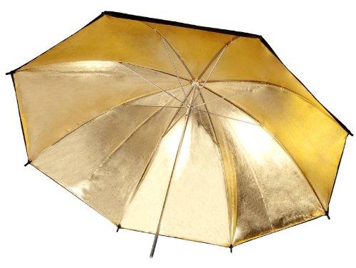 Neewer cm nero e oro riflettente illuminazione ombrello
