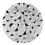 Bereich Teppich Teppich Grau Runde Fläche Teppich Mosaik Leder Studie Wohnzimmer Garderobe Couchtisch Schlafzimmer Bodenmatte Wasseraufnahme Rutschfest (größe : Diameter160cm)