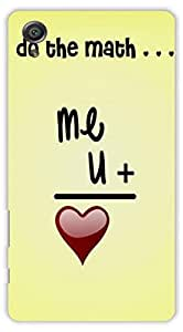 Crazy Beta Me And You Love Design Printed Back Cover For Sony Xperia X