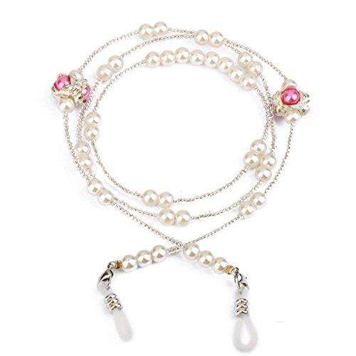 Unbekannt Phenovo Gefaelschte Perlen Brille Sonnenbrille Brille Kugelkette Halter Kabel Rosa
