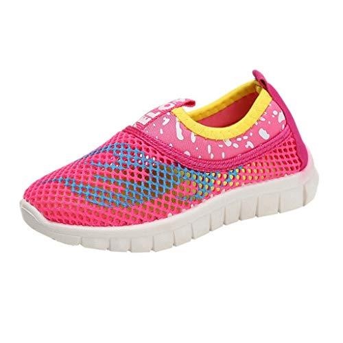 Vamoro Infant Kinder Baby Jungen Mädchen Mesh Feuer Print Sport Run Sneakers Freizeitschuhe Mesh Schuhe Atmungsaktiv Sandalen Geschlossene Sandalen(Rosa,30 EU) -