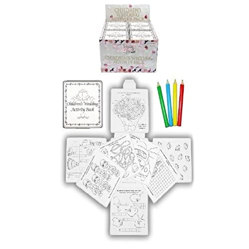 12 wedding favour activity pack childrenskidsparty bag filler boxpuzzlesgames