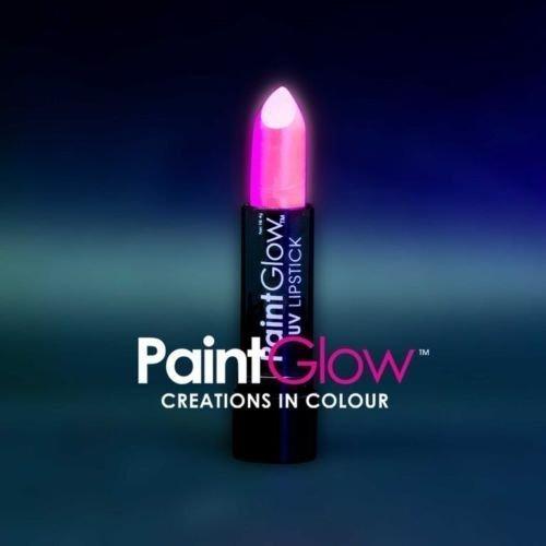 paintglow rot hat Lippen Neon leuchtet unter die UV-Lampen (Rosa)
