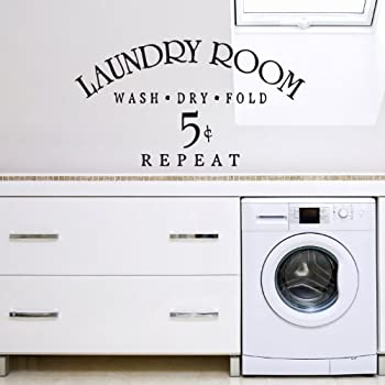 Vu0026C Designs Ltd (TM) Laundry Room Wash Dry Fold Utilities Washing Room  Kitchen Sign Wall Sticker Wall Art Vinyl Wall Decal Wall Mural   Regular  Size (Large ... Part 47