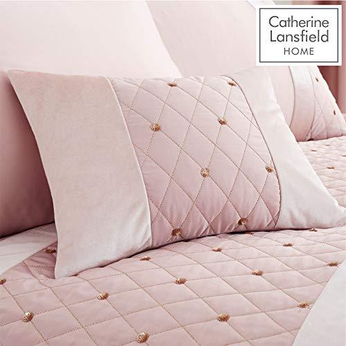 Catherine lansfield - cuscino imbottito con lustrini, 30 x 40 cm, colore: rosa