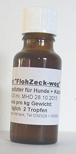 """50ml """"Asvet FlohZeck-weg"""", Futter Tropfen für Hund + Katze"""