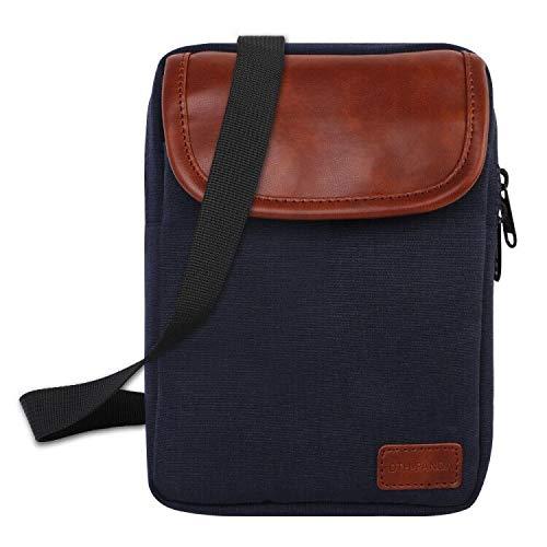 Schulter Cross Body Bag Reise Handy Geldbörsen Reisebrieftasche für Männer & Frauen, kleine Messenger Lightweight Money Ticket Pouch mit verstellbarem Gurt