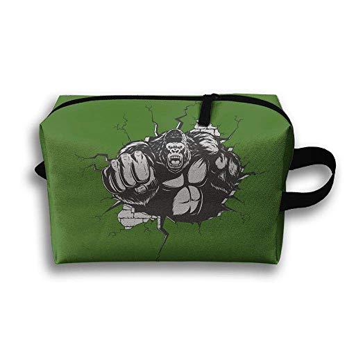 Storage Bag Travel Pouch Orangutan Punch Monkey Purse Organizer Cosmetic Stationery Holder (Punch Eco)