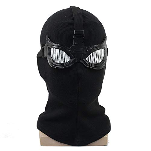 KOUYNHK Spiderman Far from Home Shadow Sneak Battle Halloween Kopfbedeckung Knitting Film Cosplay Masken Fasching Masken,Black-OneSize