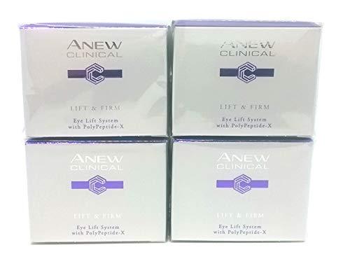 4 x AVON Anew Clinical Lift & Firm 2-Phasen-Augenpflege 20ml SET ! - Avon Gel Feuchtigkeitscreme