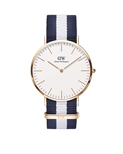 Daniel Wellington Herren-Armbanduhr XL Glasgow Analog Quarz Nylon DW00100004