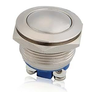 CARCHET® Bouton Poussoir Interrupteur Etanche Pour Klaxon Voiture Auto