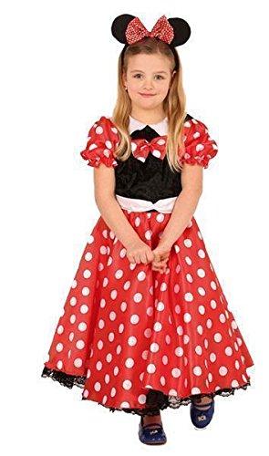 Mickey Pirat Mouse Kostüm - Mäuschen Kostüm Maus Kleid mit Haarreif 44711 128