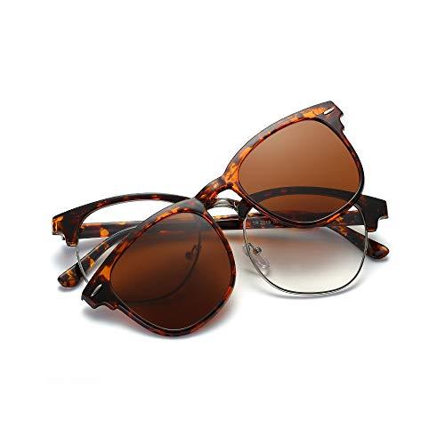 Zbertx Polarisierte Sonnenbrille Unisex Clip auf Sonnenbrille Vintage Designer Sonnenbrille Mann Frau Retro, c2