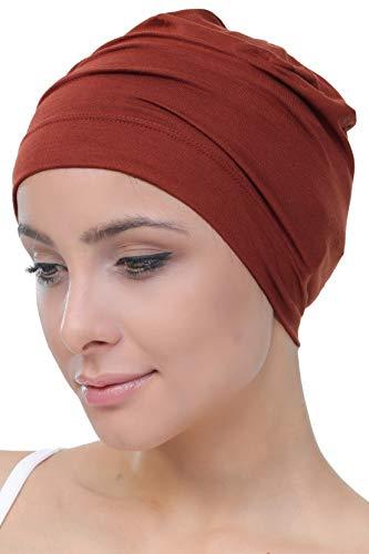 Deresina Headwear Unisex Kappe Aus Baumwolle für Krebs, Haarverlust - Schlafmütze (Zimt)