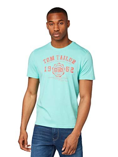 TOM TAILOR Casual Herren T-Shirt Freizeithemd, Blau (Lake Blue 16338), Herstellergröße: XX-Large