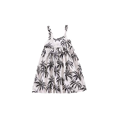 YpingLonk Kinder Coco Print Sling Kleid Neugeborenes Baby Kleinkind Kinder trägerlosen Pflanze gedruckt Kleid Outfits Kleidung