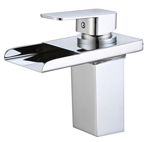 DP Grifería – Grifo monomando LED de lavabo efecto cascada ,modelo Aries