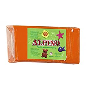 Alpino DP000070 – Plastilina, color naranja