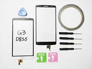 JRLinco Für LG Optimus G3 D855 Digitizer Display Scheibe Touchscreen Glass Ersatz weiß + Werkzeug & klebende +Cleaning alcohol Wiping package