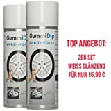 Gummi Dip Sprühfolie 12000004 Flüssiggummi Spray 4er Set 4x400 Ml Weiss Glänzend Auto