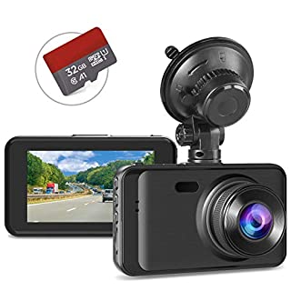 Dash Cam with SD Card Included, Full HD 1080P Dashcams for Cars Dash Camera in Car Dash Cam with Night Vision, 170°Wide Angle 3