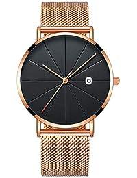 DAYLIN Relojes de Hombre Mujer Deportivos Reloj Pulsera de Cuarzo Analogico Reloj Caballero Negocios Calendario Joya