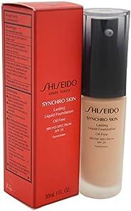 Shiseido Synchro Skin Lasting Liquid Women's SPF 20 Foundation, No. 4 Neutral, 1 Ounce