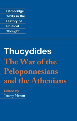 Thucydides Paperback (Cambridge Texts in the History of Political Thought)