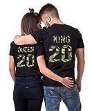 Daisy for U 2020 Neu T-Shirts Hoodie King Queen Shirts 1 Stücke-Schwarz-Camouflage-King-L(Herren)