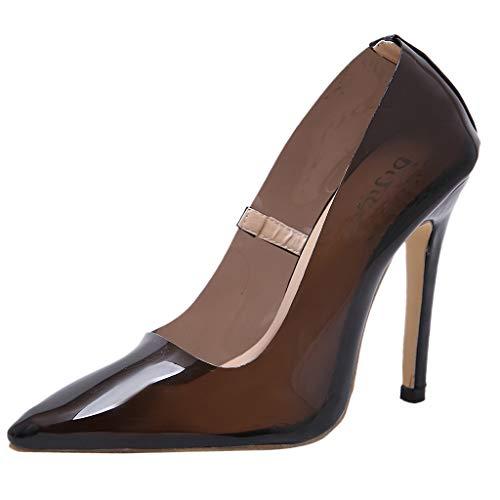 TWBB Talons Hauts Transparents Chaussures Simples Sexy Pointues Transparentes Mode Femmes Parti Mariage Haute Sandales Talon Pas Cher Chic