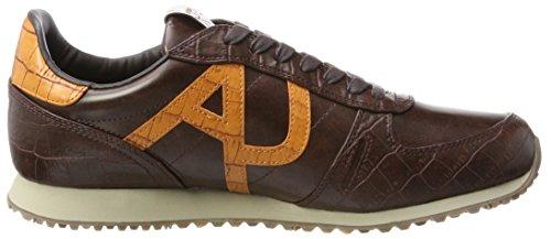 Armani Sneaker Low Cut, Scarpe Basse Uomo Braun (Dark Brown 1772)