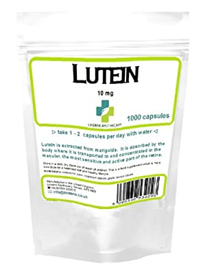 Lutein 10mg (Marigold Extract) / 1000 Capsules