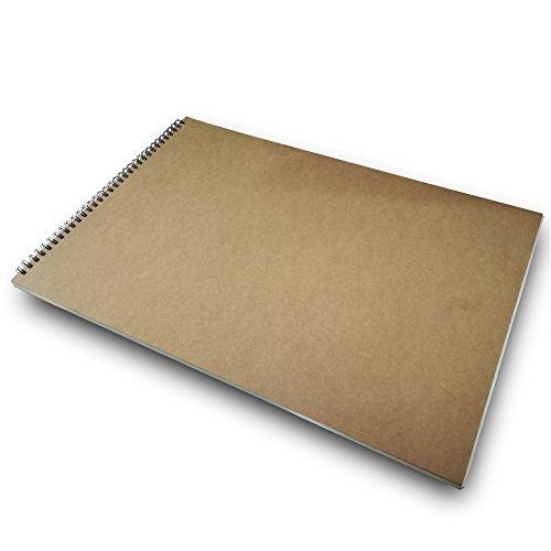 Eachgoo Skizzenbuch, Kunst Spirale gebunden 100% Recycling Zeichenpapier-A3 Querformat