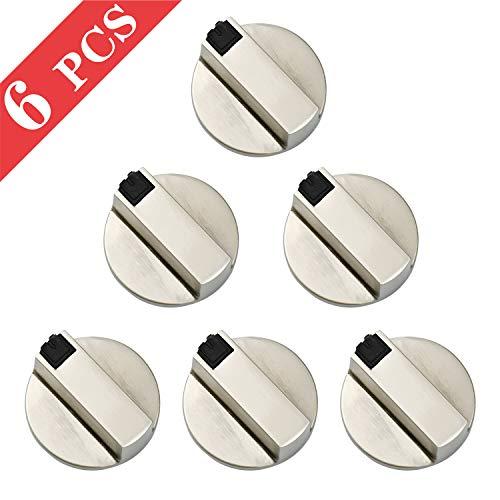 6mm Mandos Cocina Gas Botones Universal de Interruptor, 6 Piezas Metal Interruptor...