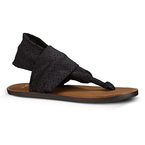 Sanük femmes Tongs Yoga Devine couleur: noir noir - noir