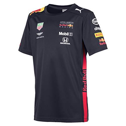 Red Bull Racing Aston Martin Team Tee 2019, 128 (7-8) T- T-Shirt, Bleu Navy, Garçon